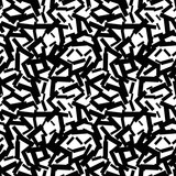 Abstract messy textured grunge seamless pattern with sticks, squares. Geometric shapes. Vector illustration.     - 256067548