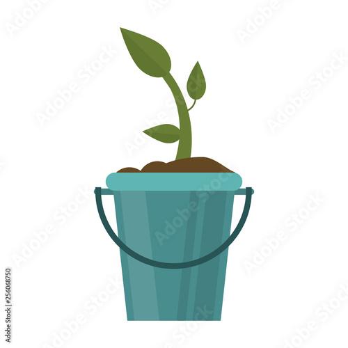 Plant in bucket symbol