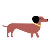 Badger-dog flat illustration
