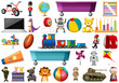 Set of children toys - 256093328