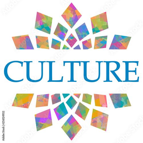 Culture Colorful Circular Squares