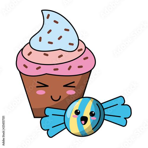 candy and desserts kawaii cartoon