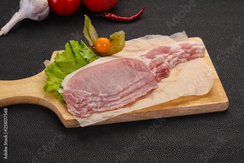 Raw pork bacon © Andrey Starostin