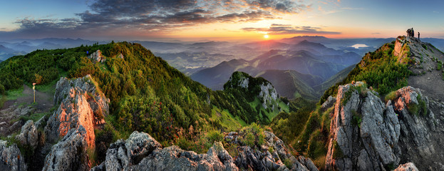 Mountain valley during sunrise. Natural summer landscape in Slovakia © TTstudio
