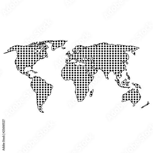 World map abstract, World Globe Map