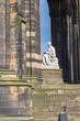 Leinwanddruck Bild - Scott Monument in Edinburgh/Schottland