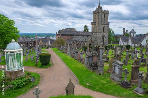 Leinwanddruck Bild Dre Friedhof in Stirling in Schottland