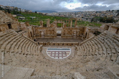 obraz PCV Old Roman city Jerash ruins in Jordan