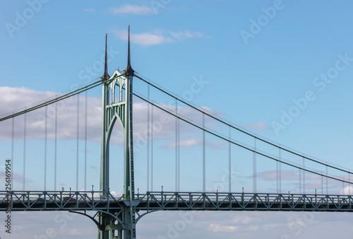 St. johns bridge in Portland - 256169954