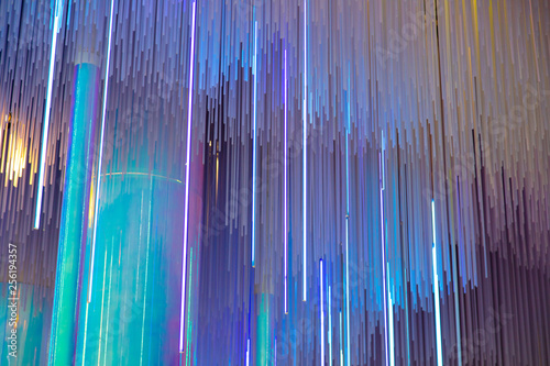 Blue light on glass luah as abstract background