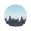 mountains snow landscape scene