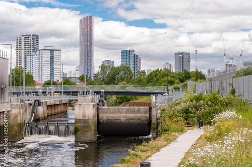 Three Mills Lock, London, England, UK.