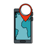 smartphone with pin gps app
