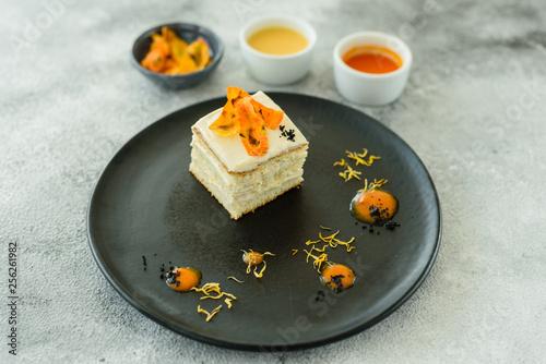 Tasty fresh carrot crackers cake