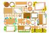 Summer floral frame / board set - 256263766