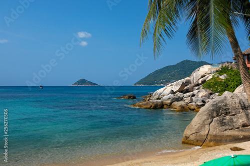 paradise tropical beach on  Koh Tao, Thailand