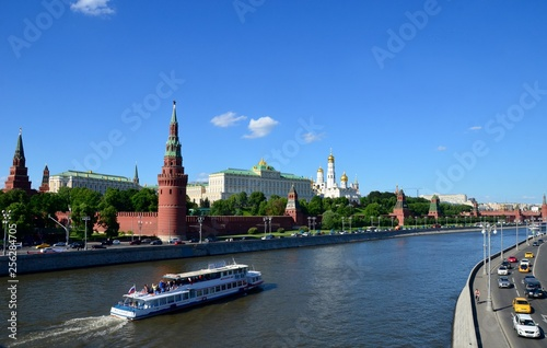 Red square, Moscow, Russia in the summer.