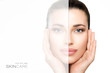 Quadro Skincare and beauty concept with a gorgeous woman