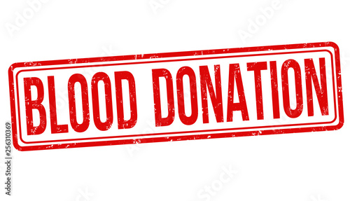 Blood donation sign or stamp