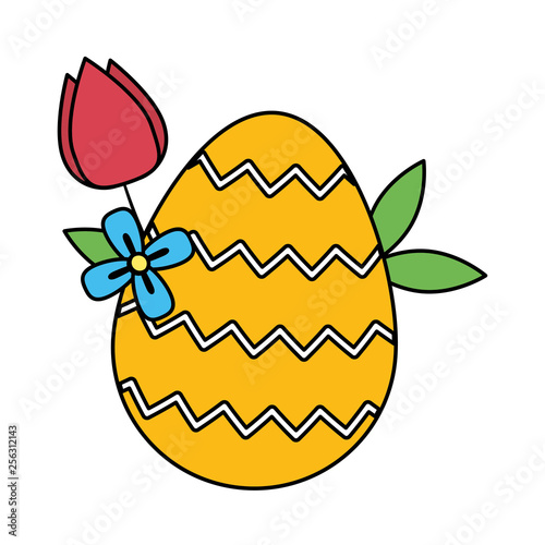 easter egg painted with rose