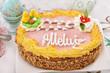 traditional easter cake called mazurek on the table