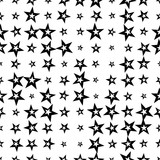 Abstract seamless pattern with halftone stars. Geometric background. Screen print. Vector illustration.   - 256318375
