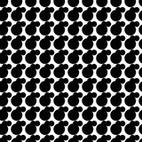 Black and white seamless pattern with dots. Dotted texture. Abstract geometrical pattern of round shape. Screen print. Vector illustration. - 256318541