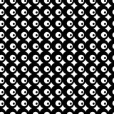 Black and white seamless pattern with dots. Dotted texture. Abstract geometrical pattern of round shape. Screen print. Vector illustration. - 256318587