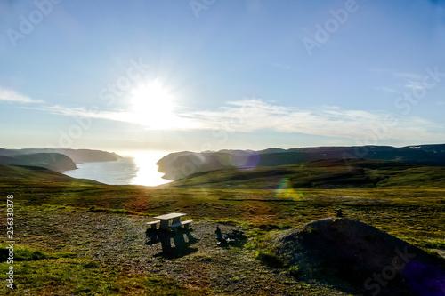 Foto Murales sunset over lake, in Sweden Scandinavia North Europe