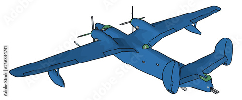 Aircrafts airplane vector or color illustration