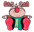 Reindeer or Reno toy vector or color illustration