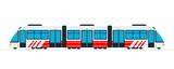 Speed intercity train vector flat isolated