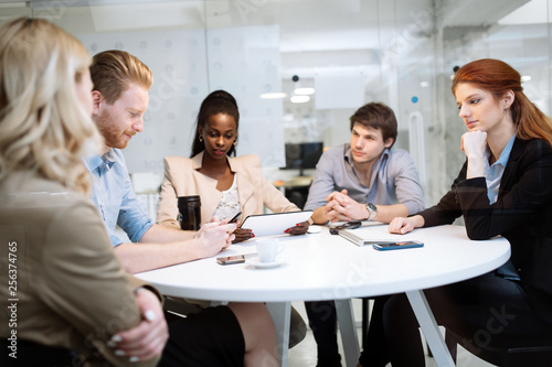 Business people board meeting in modern office