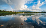 Killarney lakes scenic  rainbow landscape