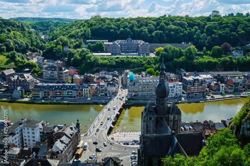 Foto Murales Aerial view of Dinant town, Belgium