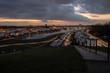 canvas print picture - Dramatische Wolken am Phoenixsee Dortmund