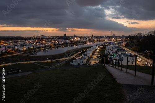 canvas print picture Dramatische Wolken am Phoenixsee Dortmund