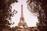 View on the Siene river and the Eiffel tower in Paris, France