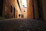 Strolling through ancient village, Europe