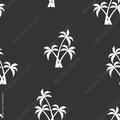 fototapeta na ścianę seamless pattern with white palm trees
