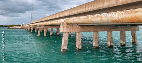 Bridge of the Keys, Florida at sunset - 256450744