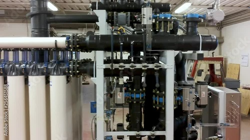 Water pipe in a sewage treatment plant, industrial purification treatment system