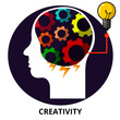 Creativity Abstract Icon Surrealism Illustration Vector