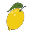 Lemon fruit fresh food blue lines