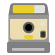 Photo camera flat illustration on white