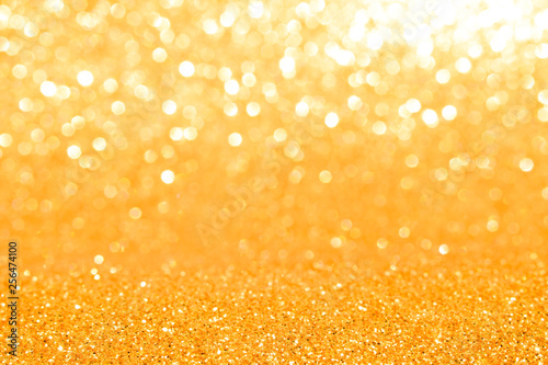 golden glitter abstract background	 - 256474100