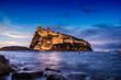 Quadro Ischia - Castello Aragonese al tramonto