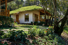 "Постер, картина, фотообои ""Tropical resort in Vietnam with light eco houses"""