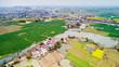Leinwanddruck Bild - Aerial photo of rural spring scenery
