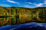 Kingston, New York, USA Natural fall and autumn colors on a lake.